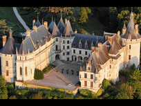 The Châteaux of the Loire seen from the sky